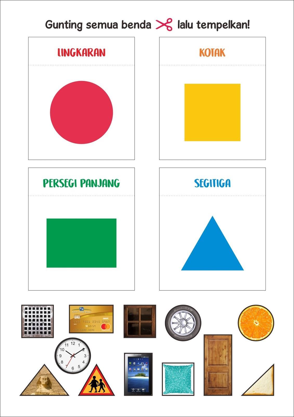 Printable Gratiss Bentuk Di Sekitar Kita