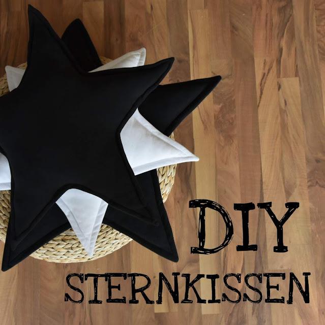 diy, GrinseStern, Sternkissen, starpillow, sewing pattern, stern nähen