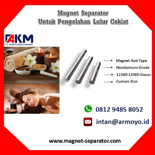 Magnet Separator Untuk Lulur Coklat