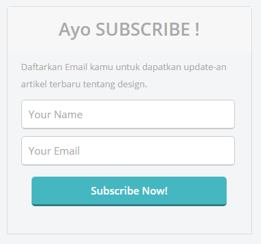 Demo Tampilan Subscribe Me !