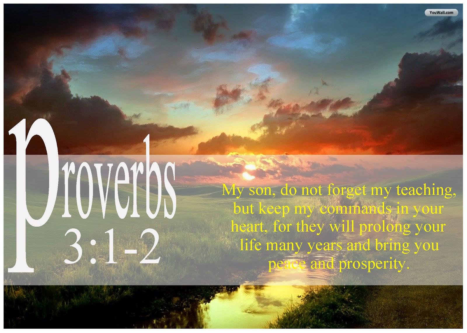 Proverbs 3 1 2