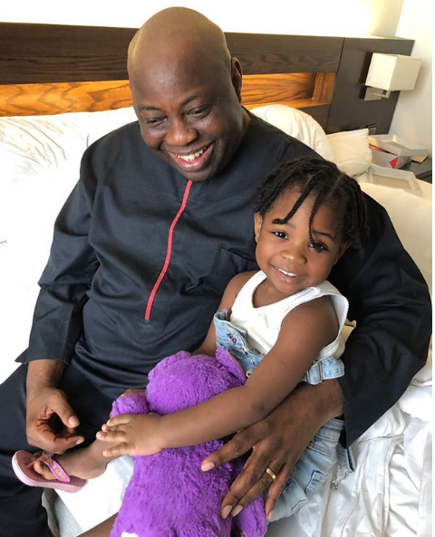 Dele Momodu and Davido's Daughter Imade pictured together