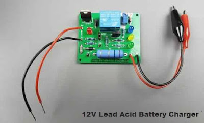 دائرة شحن اتوماتيك لبطاريات 12v lead Acid بعد التصميم