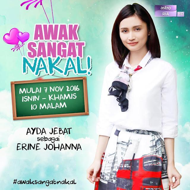 Lirik Lagu Awak Sangat Nakal - Ayda Jebat (OST Awak Sangat Nakal!)