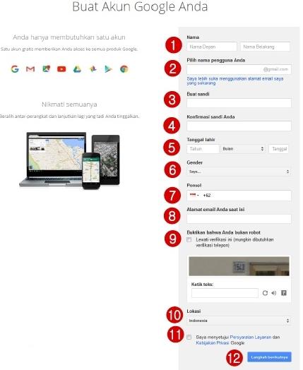 Cara Termudah Membuat dan Verifikasi Email Gmail-Akun Google Baru