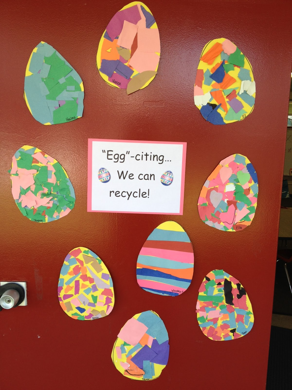 Egg Citing We Can Recycle With Art Apples And Abcs