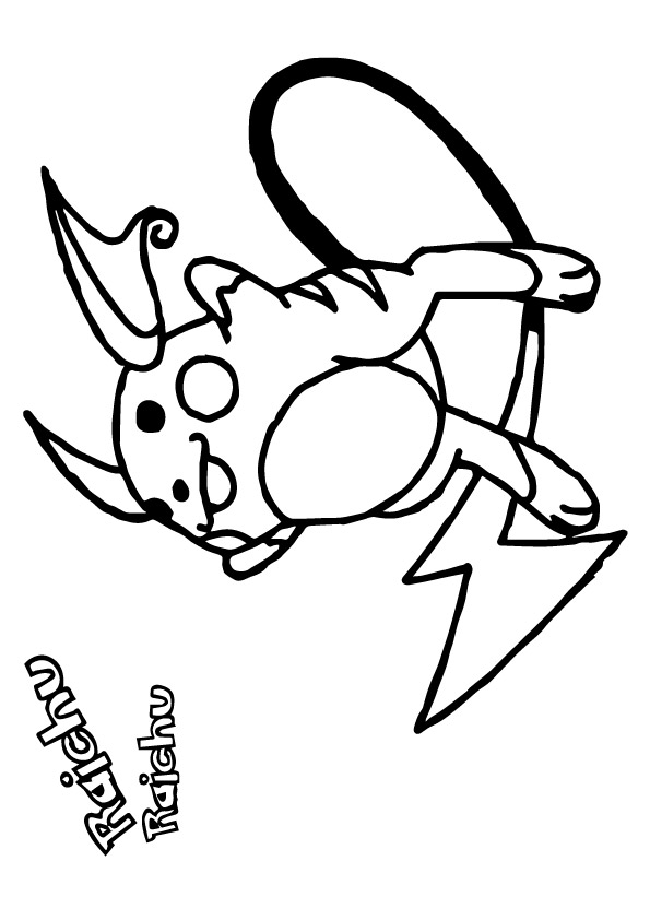 click the raichu from pokemon coloring pages