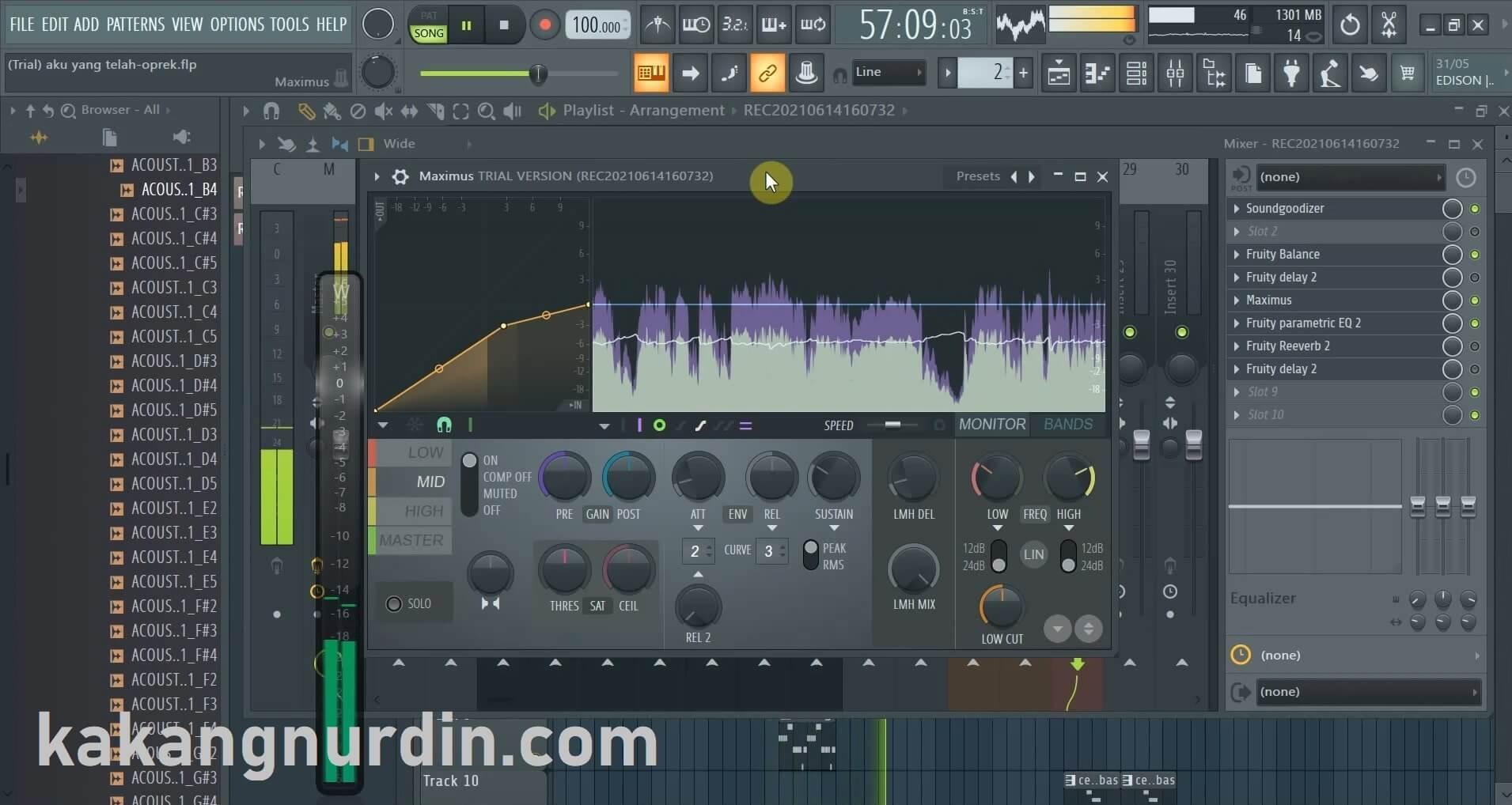 Cara membuat musik untuk lagu ciptaan sendiri menggunakan FL Studio 2021 kakangnurdin.com