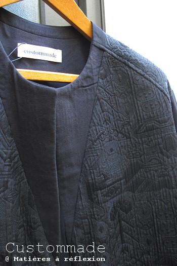 Custommade veste longue Thia noire