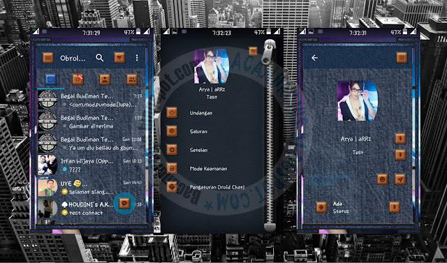 download BBM Mod DroidChat Tema Blue Jeans Terbaru Versi 2.13.0.22