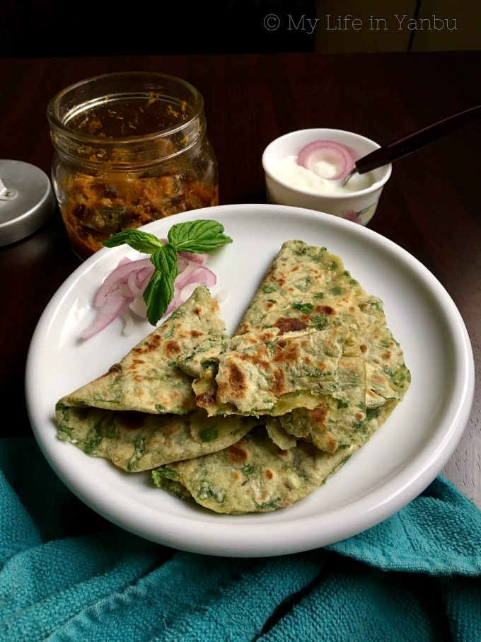 Palak Paratha | Spinach Whole Wheat Flatbread