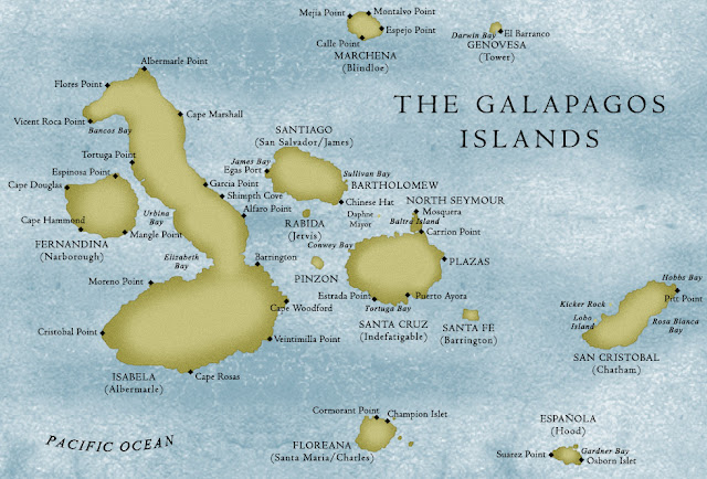 map of galapagos