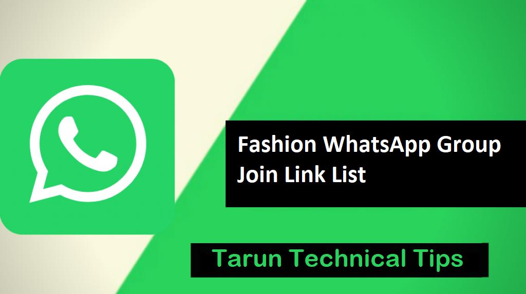 Join Now! Fashion WhatsApp Group Join Link List 2019 | Tarun