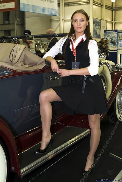 Fashion Tights Skirt Dress Heels Elegant Look