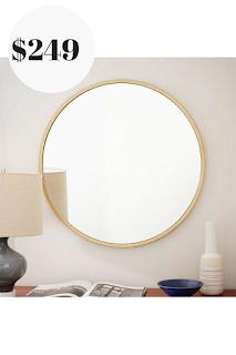West Elm Round Wall Mirror