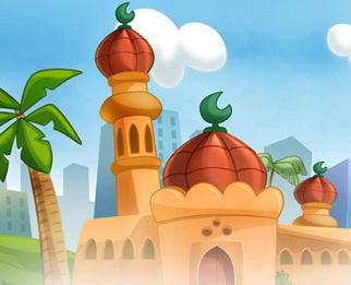 Background Masjid Animasi Nusagates