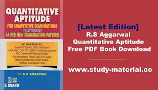 R.S Aggarwal Quantitative Aptitude Free PDF Book Download [Revised Edition]