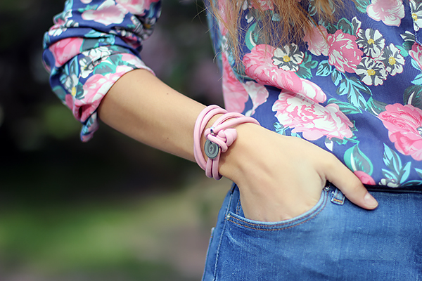 pink leather accessory