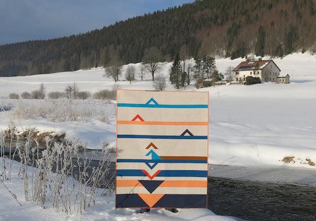 Luna Lovequilt - Horizon - A modern and minimalistic quilt