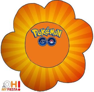Tarjeta con forma de flor de Pokemon Go.