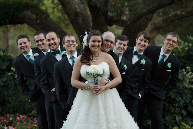 At Home Disney Wedding - Bride and Groomsmen