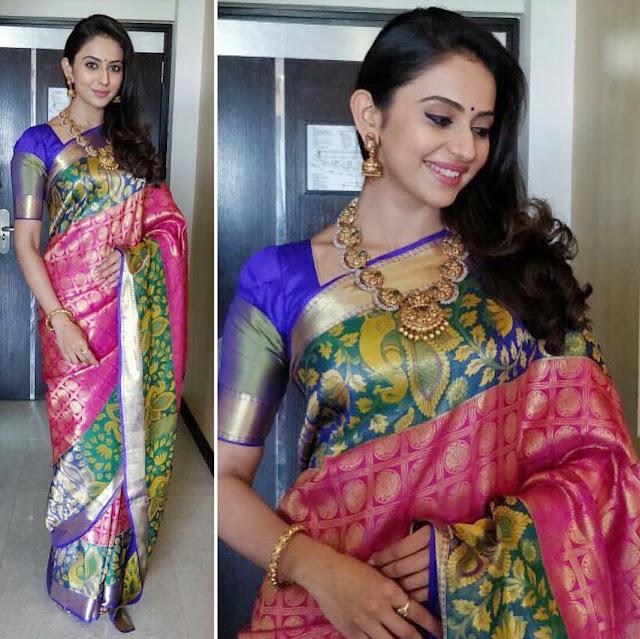 Rakul Preet in a Saree Look
