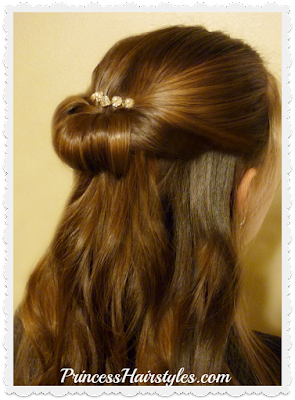 Easy and pretty Prom hairstyle using bracelet.  Video tutorial.