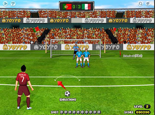 Chơi game đá bóng Penalty World Cup