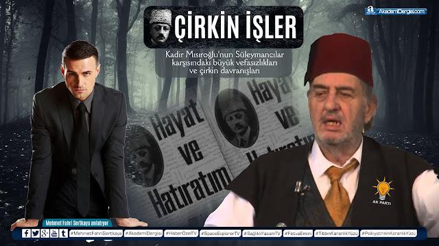 akademi dergisi, dört halife, gerçek yüzü, hz ali, hz osman, islam tarihi, kadir mısıroğlu, mehmet fahri sertkaya, peygamber efendimiz, sigara haram mı, süleymancılar, video izle,
