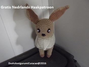 Dushi Amigurumi Curacao Nederlands Haakpatroon Eevee Pokemon