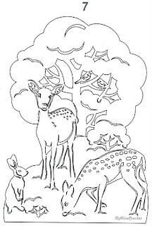 олени вытынанка