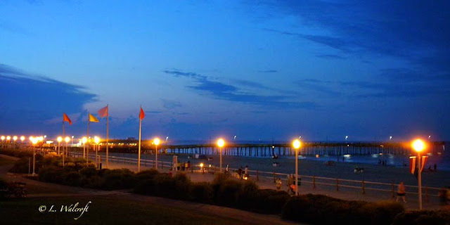 pier at night