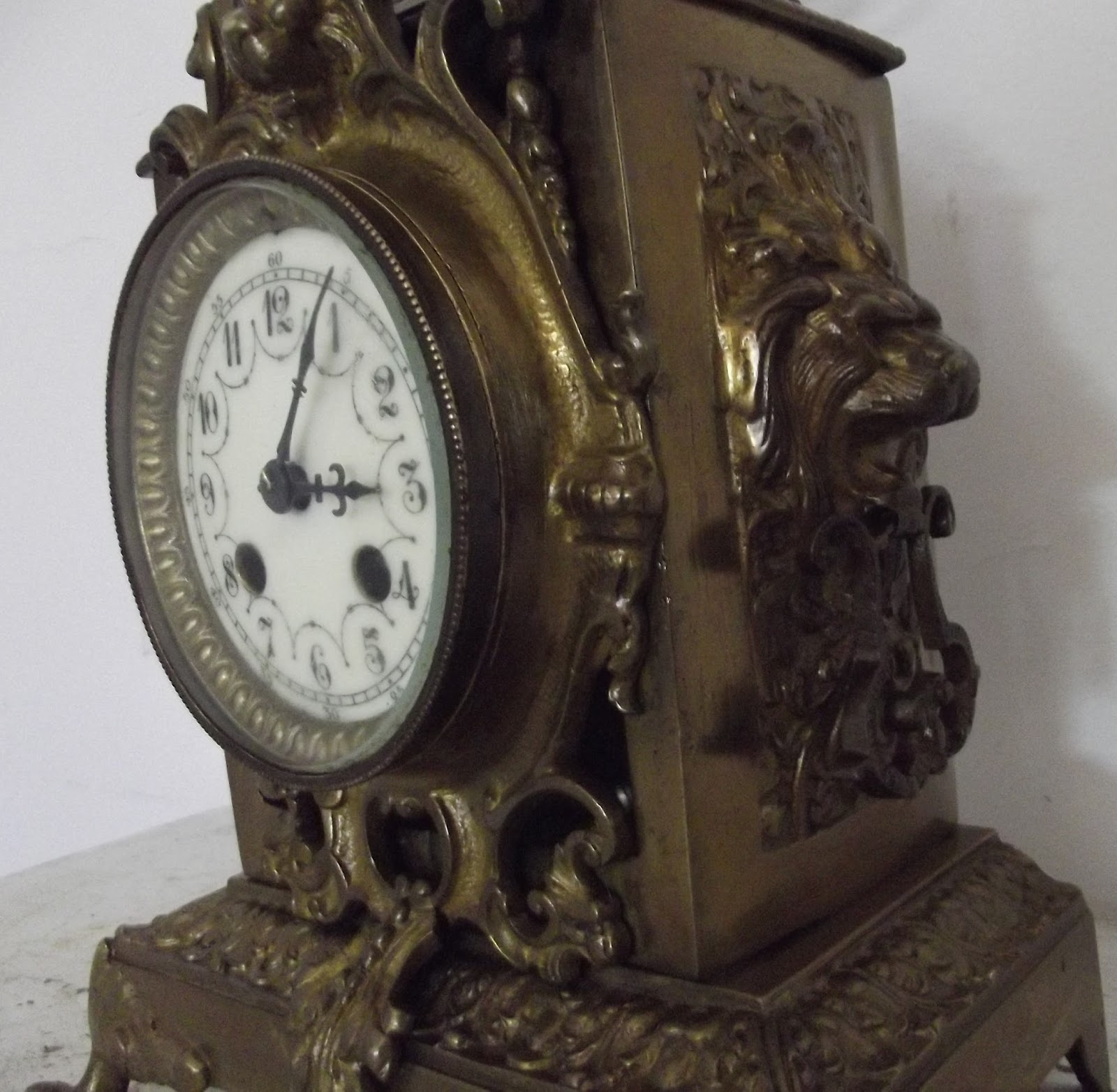 tischuhr cartel bronze kopf l we napoleon 19 jahrhundert bewegung de paris uhr ebay. Black Bedroom Furniture Sets. Home Design Ideas