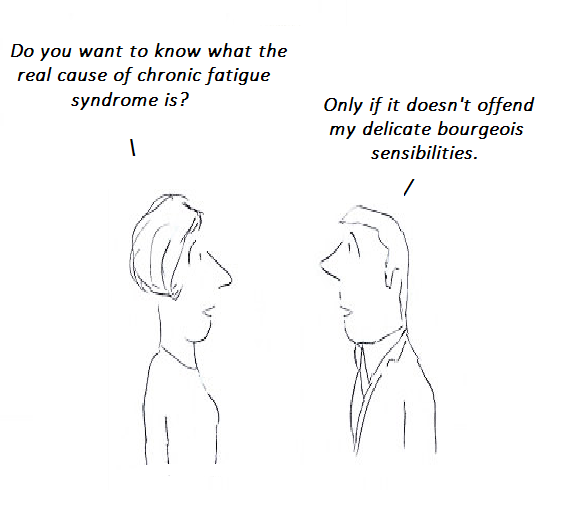 CFS, cartoon, HHV-6, chronic fatigue syndrome, medical