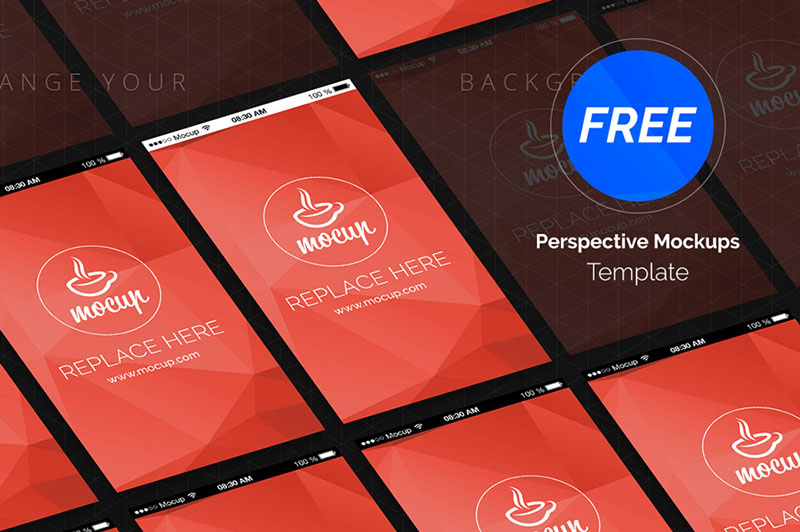 Perspective App Screen Mockup Template