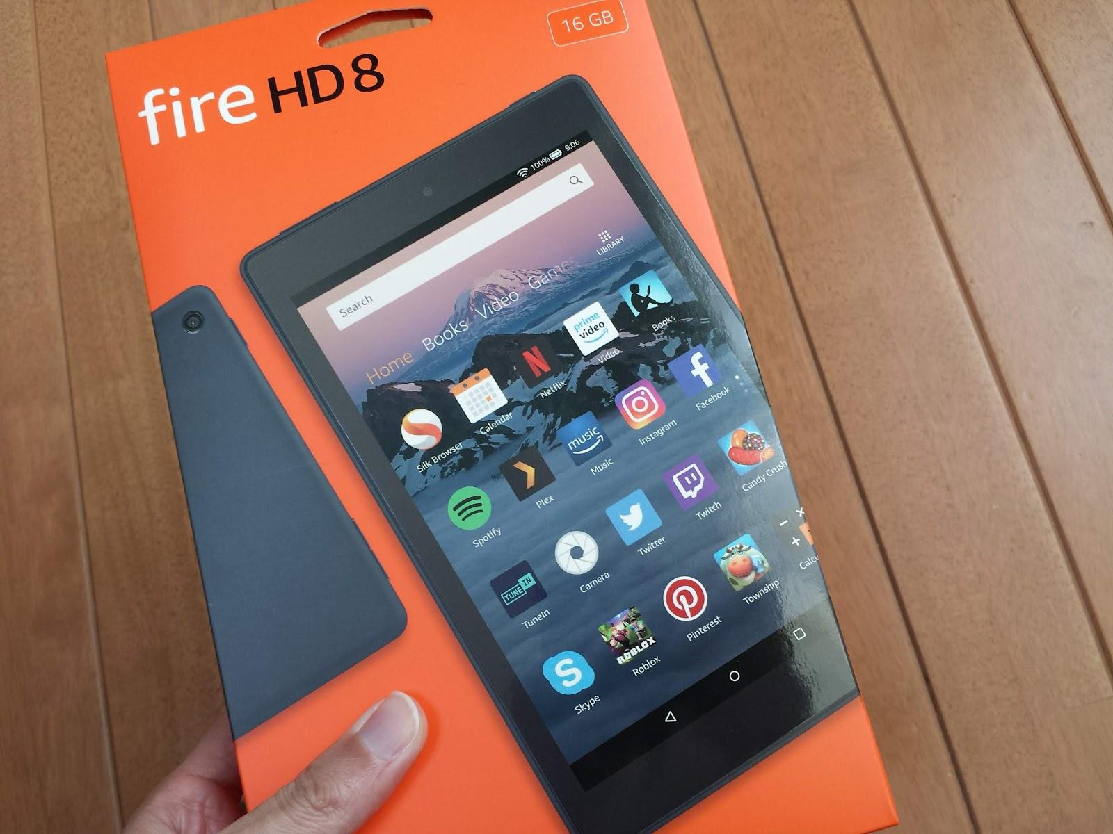 新型Fire HD8をポチる 2018モデル