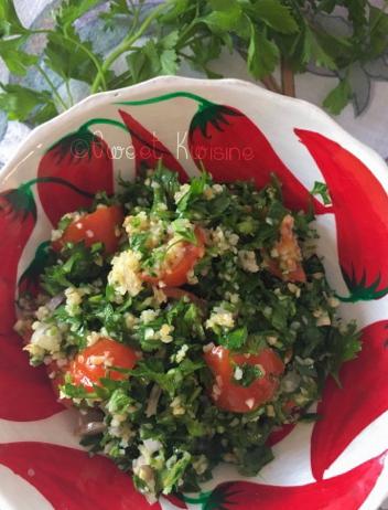 Sweet Kwisine: Le taboulé libanais aux herbes