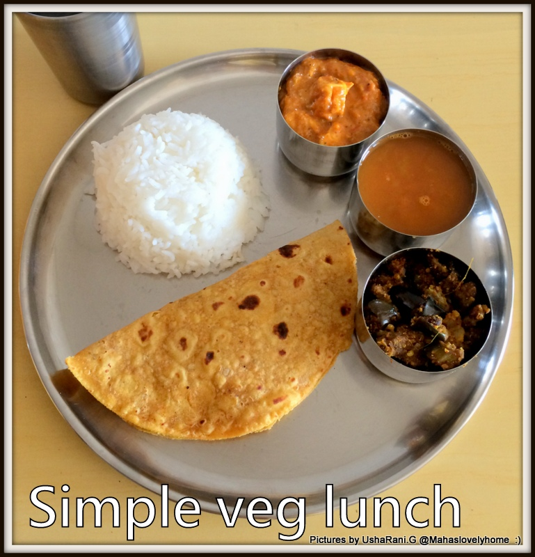 Simple South Indian Lunch Menu 1