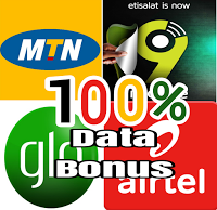 Activate 100% Double Data Bonus On All Networks (MTN , Airtel, 9mobile and Glo )