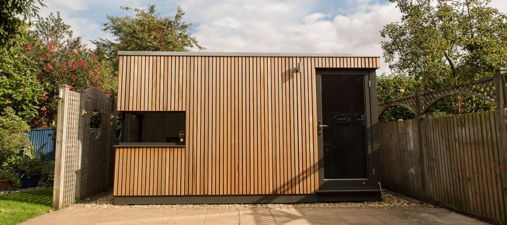 Shedworking garden office pod in brighton for Garden office pod