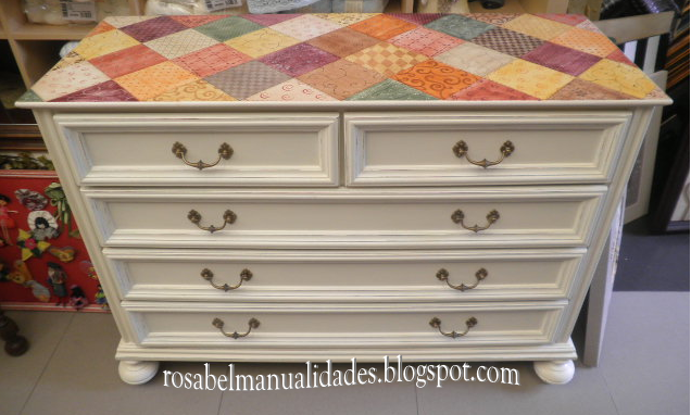 Rosabel manualidades muebles restaurados for Muebles restaurados en blanco