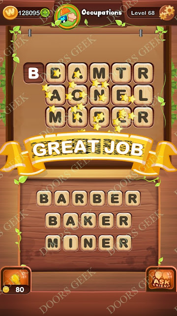Word Bright Level 68 Answers, Cheats, Solutions, Walkthrough for android, iphone, ipad and ipod