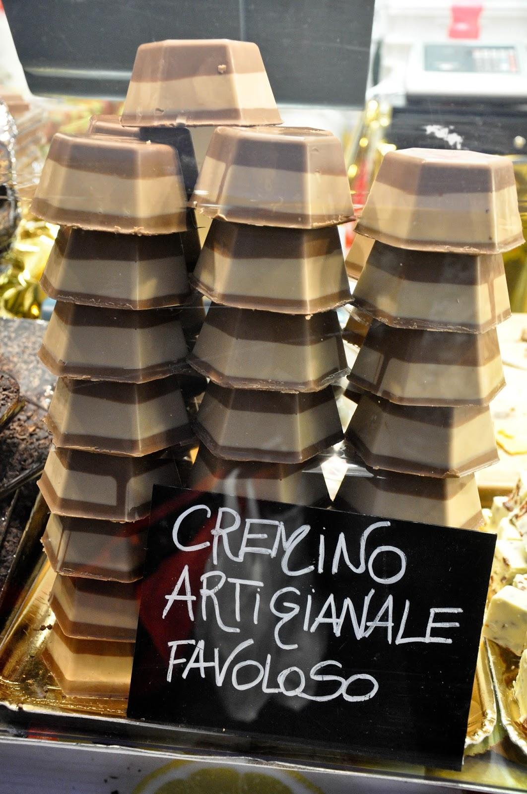 Artisan cremino, Chocolate Festival, Piazza dei Signori, Vicenza, Veneto, Italy