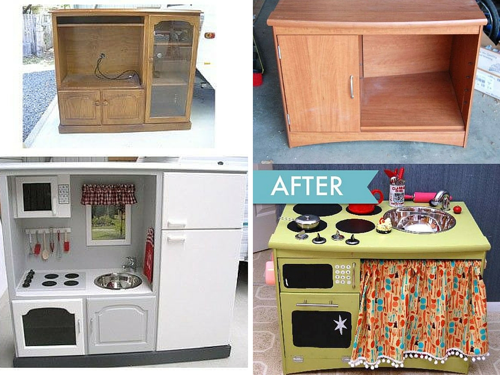 kids play kitchen DIY