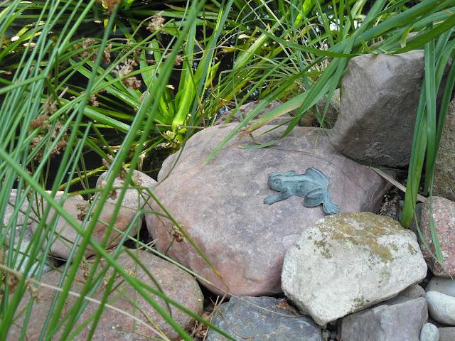 ozdoby ogrodowe żaba