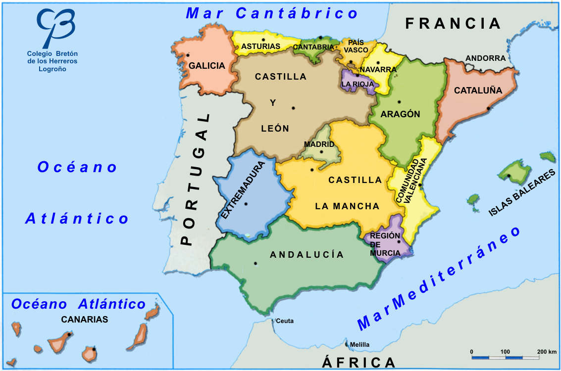 Mapa De España Provincias Y Comunidades.Las Comunidades Autonomas De Espana