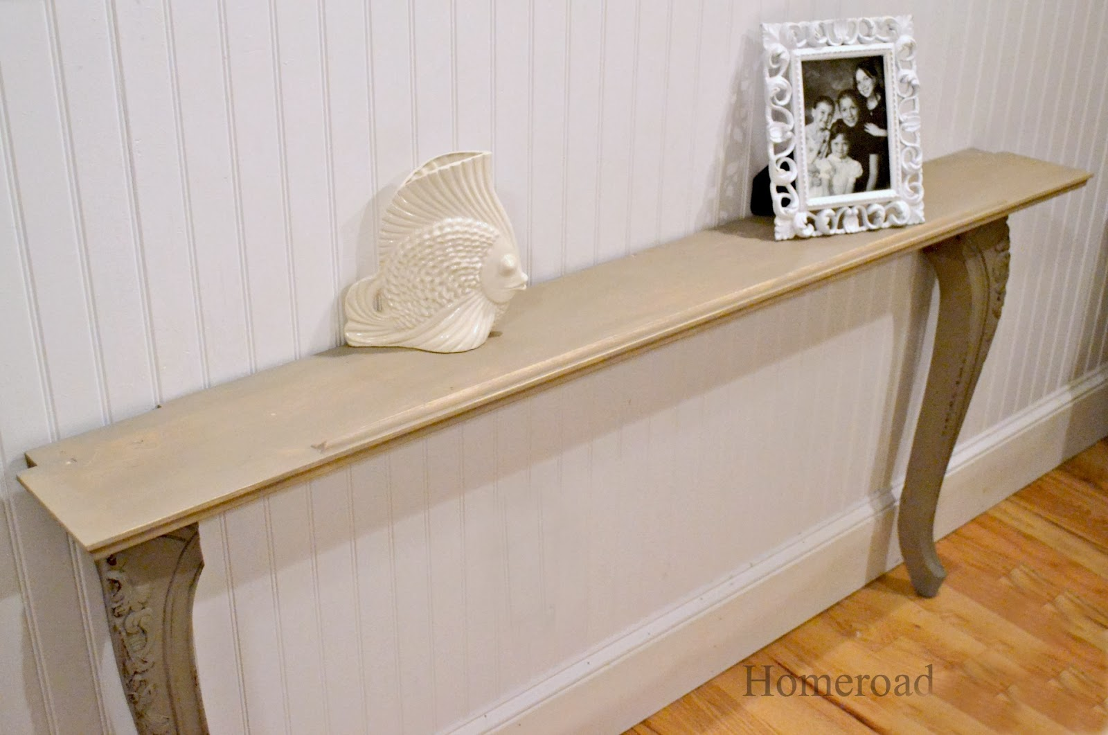 sofa table on wall 2 go prospect diy narrow or homeroad