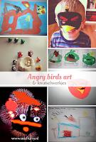 Angry birds art & knutselwerkjes