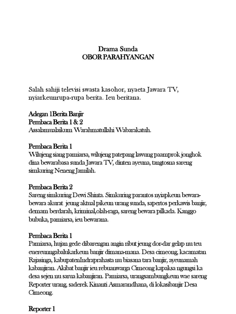 Berita Bahasa Sunda Wood Scribd Indo