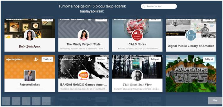 Yeni Yapısıyla Tumblr Üye Olma
